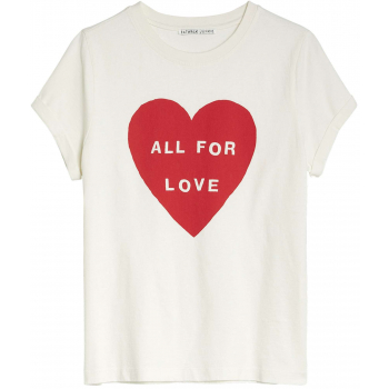T-shirt love is love off white