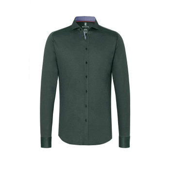 New hai green pique flex shirt