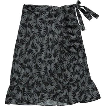 Skirt black& blue printed