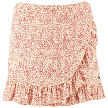 Brooke-skort ivory red