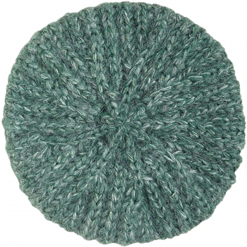 Beret braid fir green