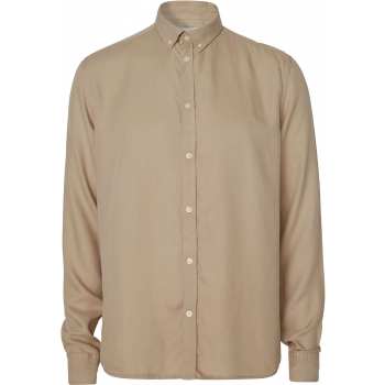 Laurent tencel dobby shirt dark sand