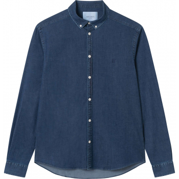 Harper chambray shirt navy stretch denim