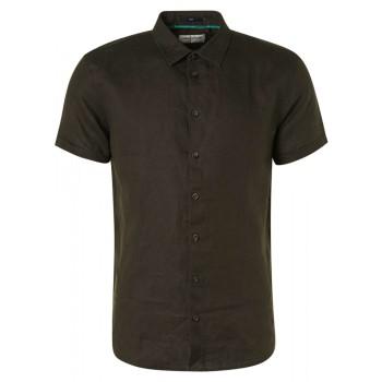 Shirt short sleeve linen moss