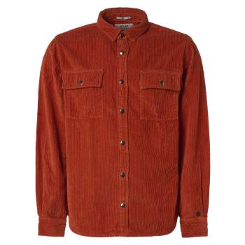 Shirt, l/s, overshirt, big pockets brick