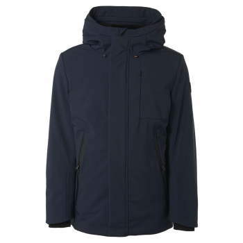 Jacket long fit hooded stretch soft night