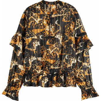 Printed recycled polyester top combo a