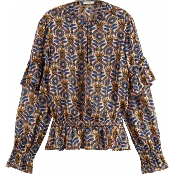 Printed recycled polyester top combo b