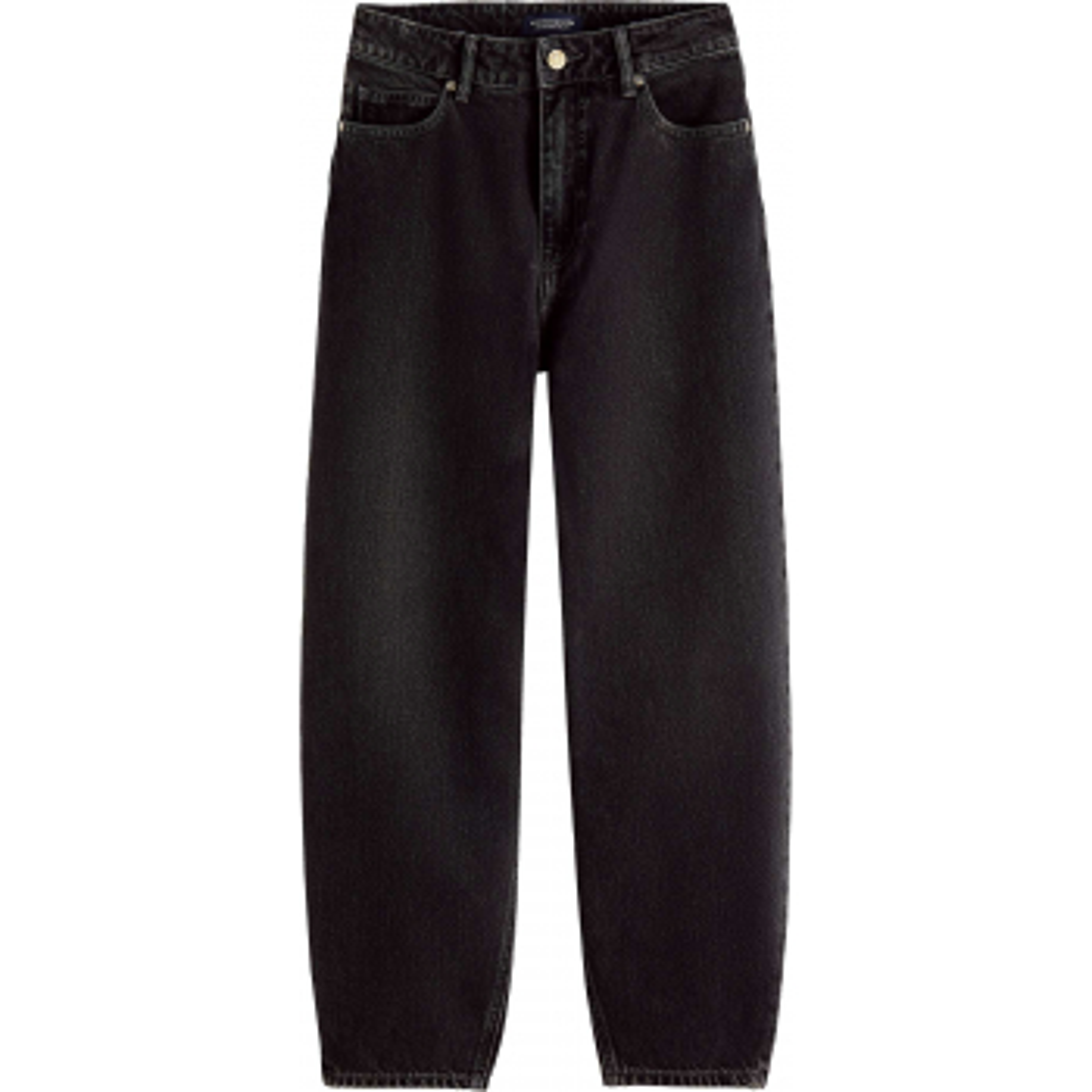 High-rise balloon jeans black denim