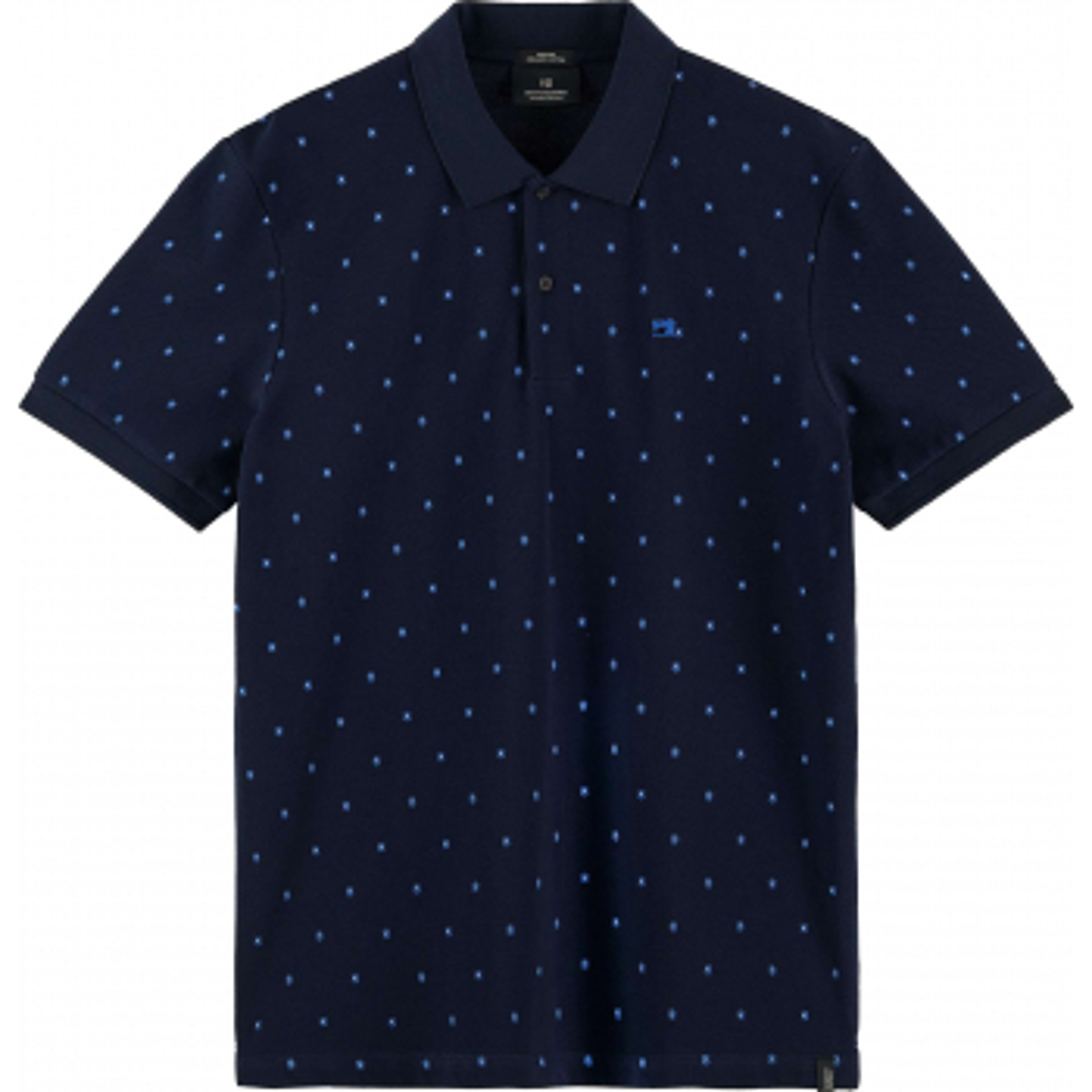 Classic all-over printed organic cotton dark blue