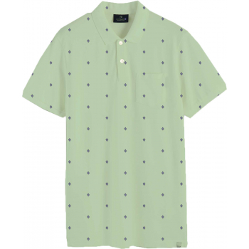 Classic all-over printed organic cotton lt green