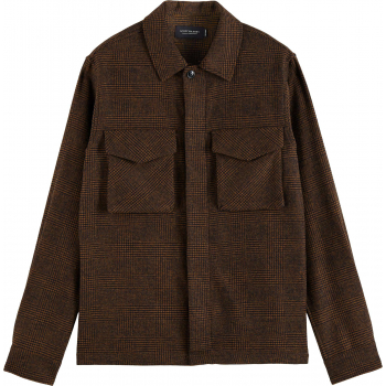 Relaxed overshirt contains recycled combo b