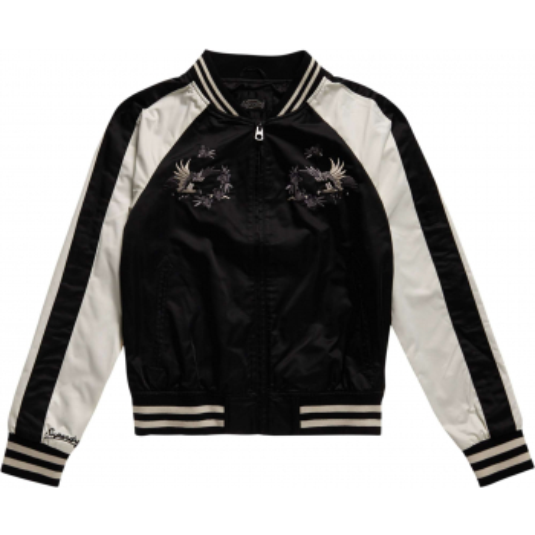 Suika bomber jacket satin black