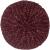 Beret braid grape red