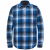 Long sleeve shirt twill check imperial blue