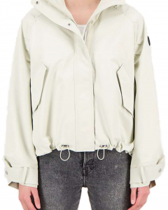 Oversized softshell jacket bone white