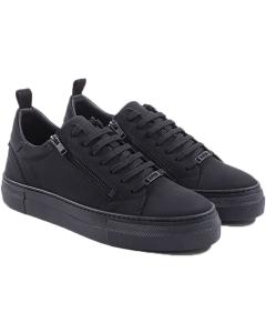Sneakers zipper lace up nubuck black 9000