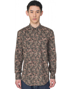 Shirt l/s with plaquette on cuff nut 2077