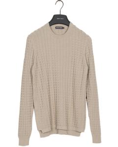 Fine knit pull slimfit soft touch beige 2082