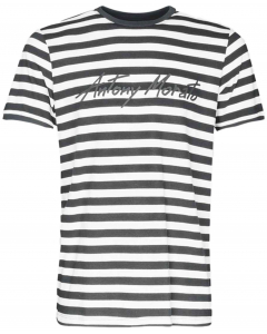 T-shirt with stripes black 9000