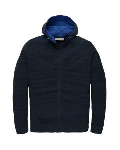 Hooded jacket cotton heather dark sapphire