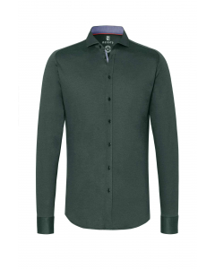 New hai green pique flex shirt