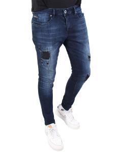 Ultimo d.blue destroyed jeans