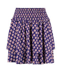 Fay skirt purple blue flower printed