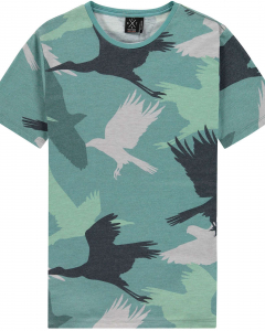 T-shirt bird camo oil blue
