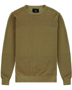 Knit pull  mustard millitary olive