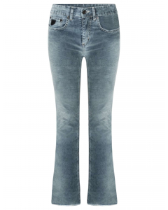 Capitole snowy melrose blue cord flare pants