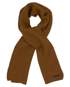 Scarf solid yarn rice knit bronze