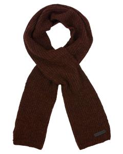 Scarf solid rib knit rusty