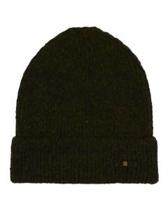 Beenie rib knit dark green