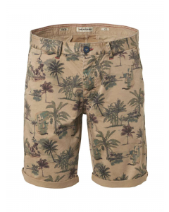 All over palm printed shorts khaki