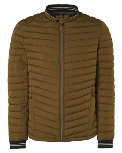Jacket short fit padded moss