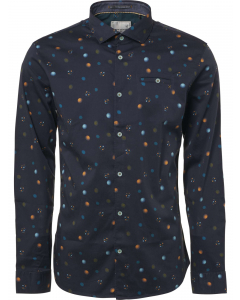 Shirt, l/sl, allover digital printe night