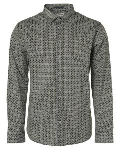 Shirt, l/sl, allover printed square night