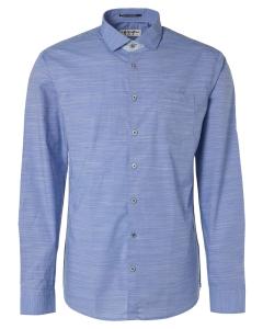Shirt, l/sl, allover yd stripe, str royal