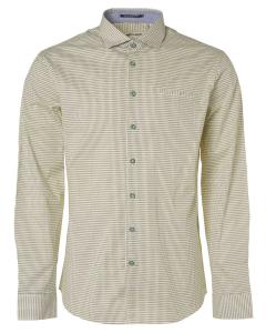 Shirt, l/sl, allover printed, stret lime