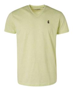 T-shirt v-neck 3 coloured melange + green