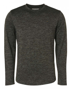 T-shirt long sleeve crewneck stretc basil