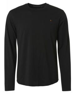 T-shirt long sleeve crewneck solid black