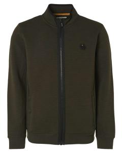 Sweater full zipper double layer pa moss