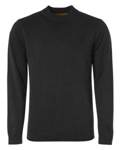 Pullover crewneck relief garment dy black
