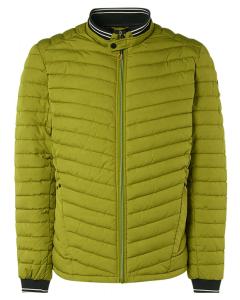Jacket short fit padded green