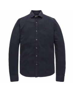 Long sleeve shirt garment dyed piq night sky