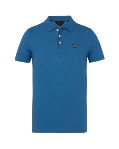 Short sleeve polo stretch pique imperial blue