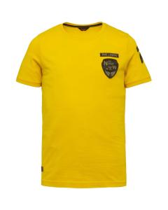 Short sleeve r-neck single jersey lemon