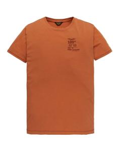 Short sleeve r-neck single jersey burnt ochre